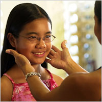 Eyeglasses are frequently used to correct myopia.