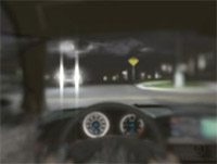 Night driving with cortical cataract.© 2009 Eyemaginations, Inc.
