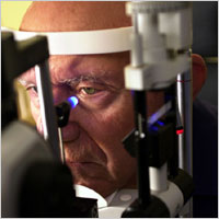 Tonometry measures eye pressure. Elivated pressure in the eye signals an increased risk for glaucoma.