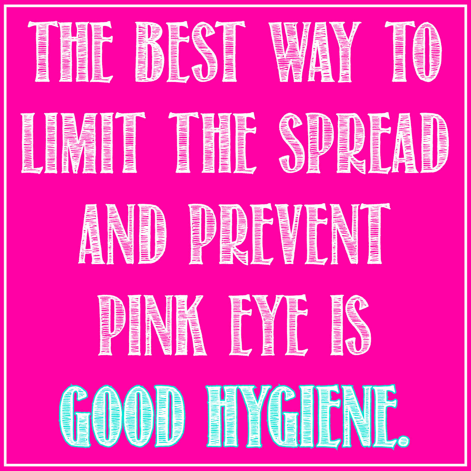 pink eye graphic