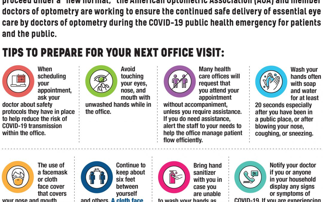 COVID-19: Patient Safety Tips for Optometric Office Visits